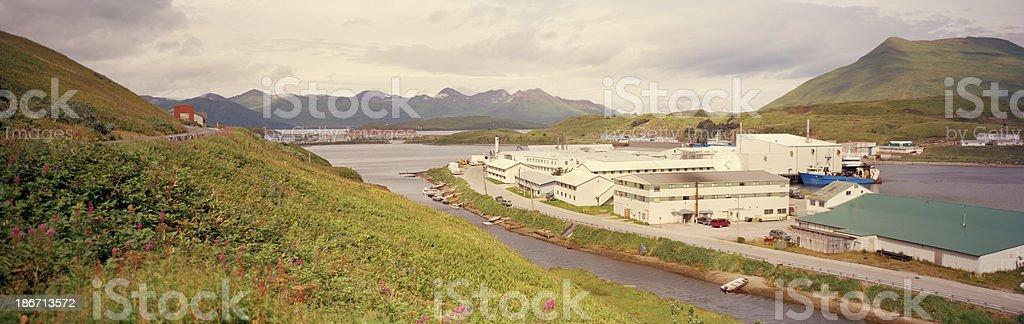 Industrial Area, Dutch Harbor,  Alaska stock photo