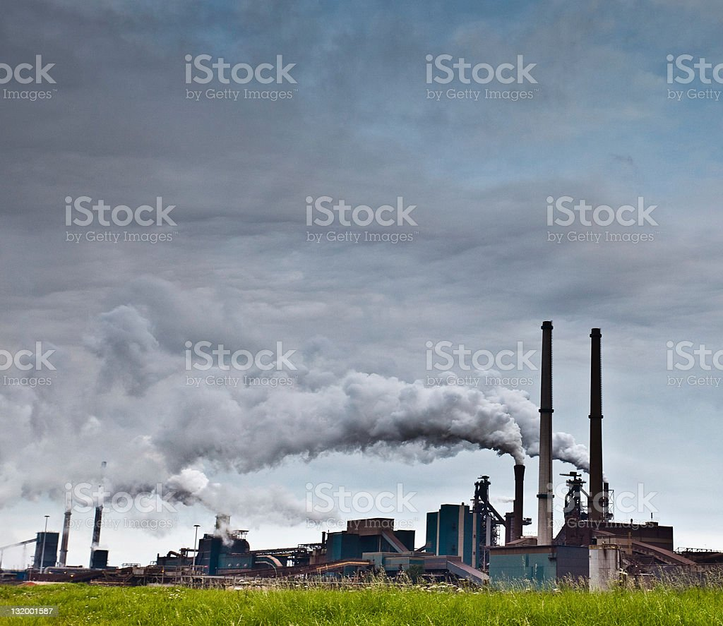 Industrial Area, Factory in IJmuiden, The Netherlands royalty-free stock photo