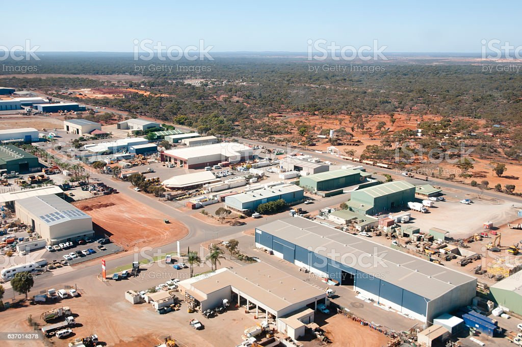 Industrial Area - Kalgoorlie - Australia stock photo