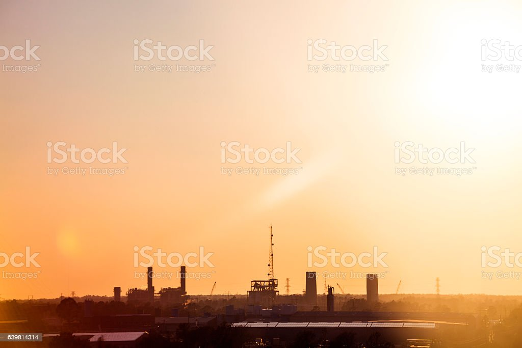 Industrial area, North Carolina. stock photo