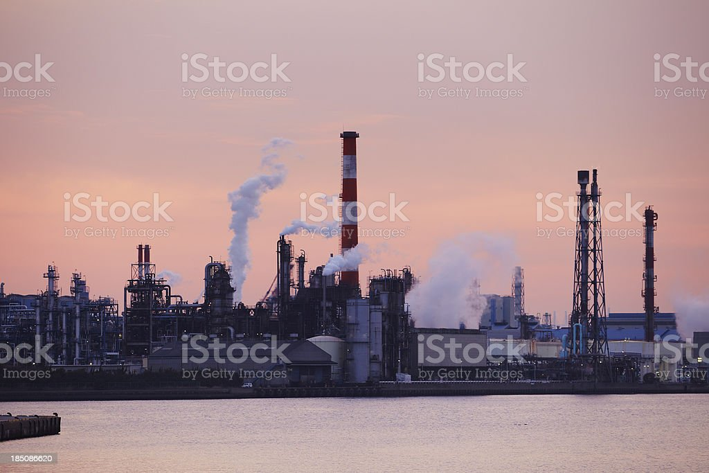 Industrial area on seaside royalty-free stock photo
