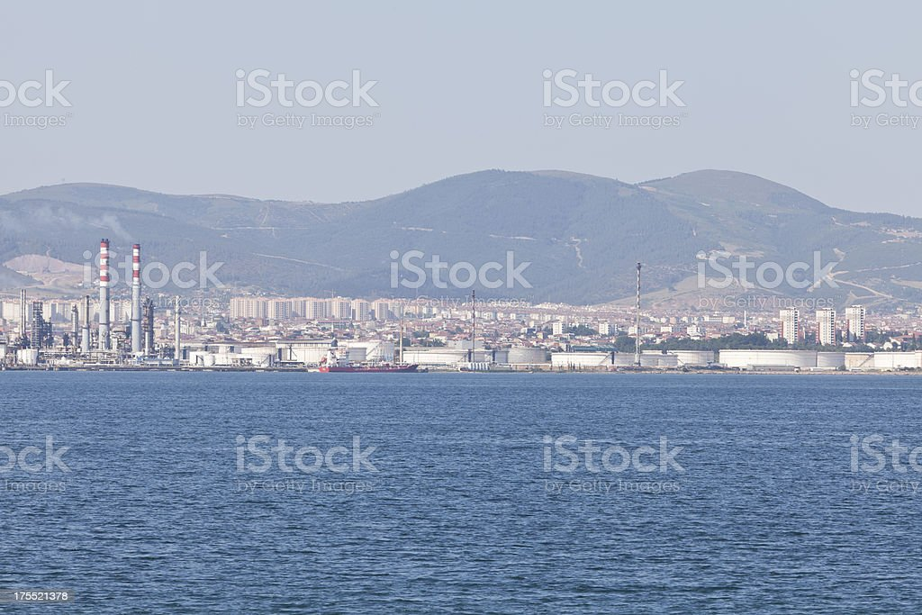 industrial area stock photo