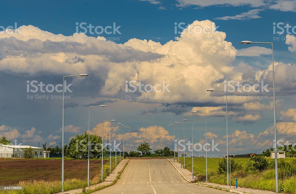 Industrial area stock photo