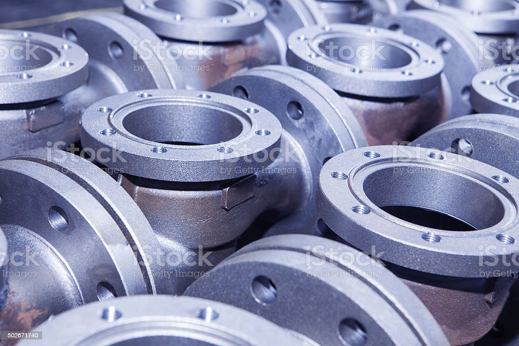 Industrial background from part of valves stock photo