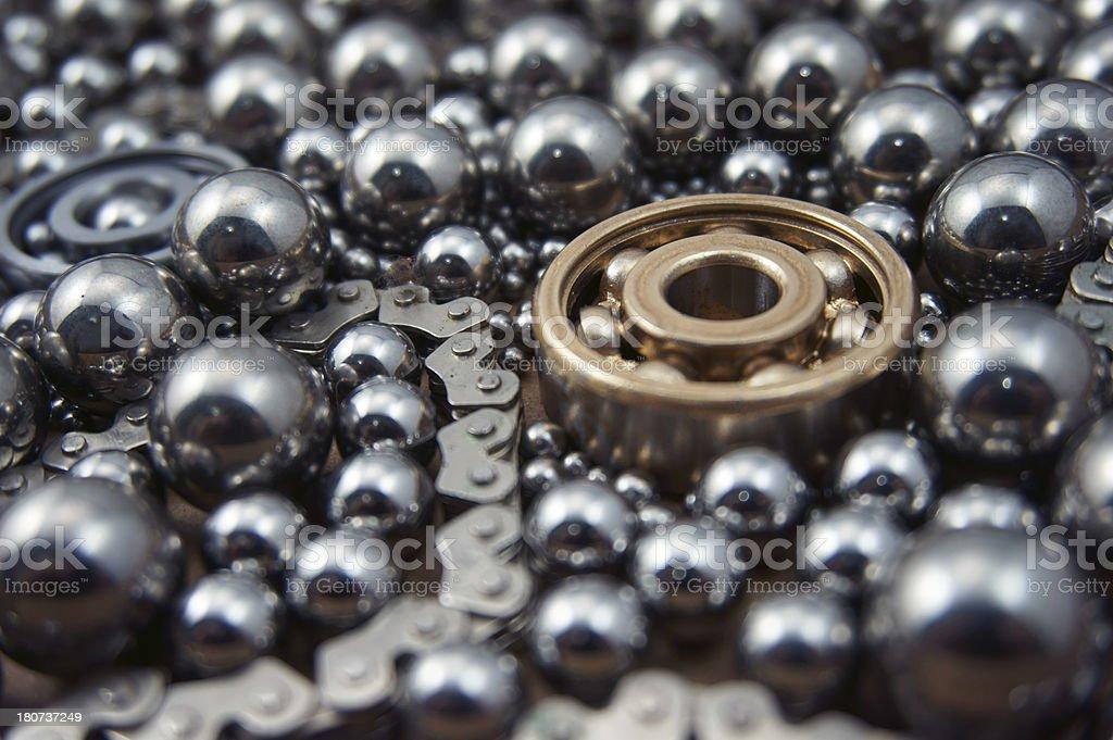 Industrial Ball Bearings stock photo
