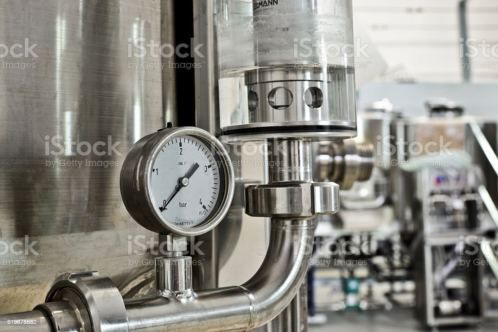Industrial barometer stock photo