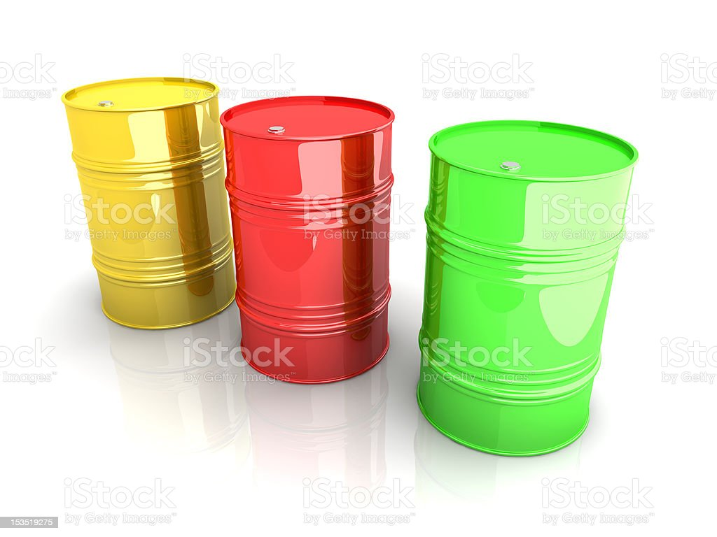 Industrial Barrels royalty-free stock photo