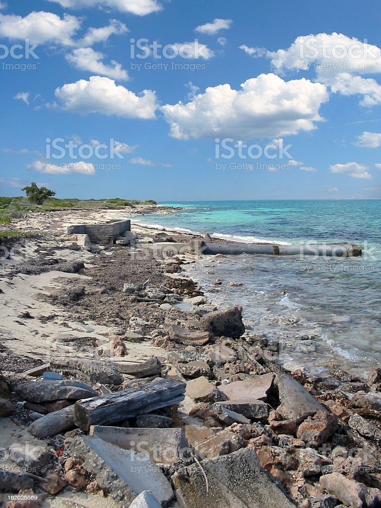Industrial Beach royalty-free stock photo
