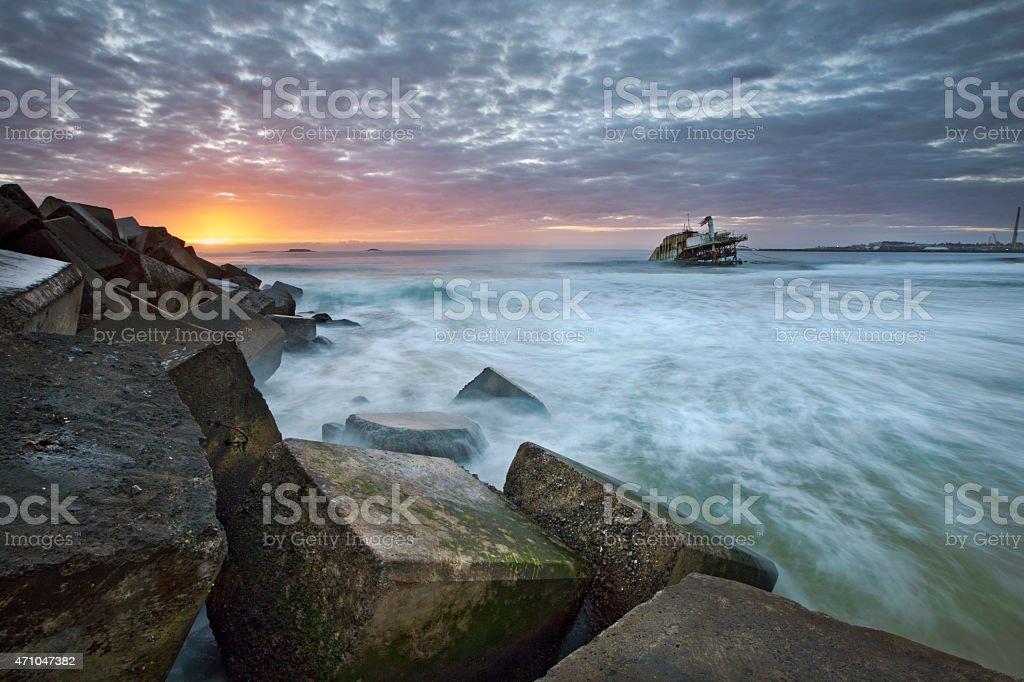 Industrial Beach stock photo