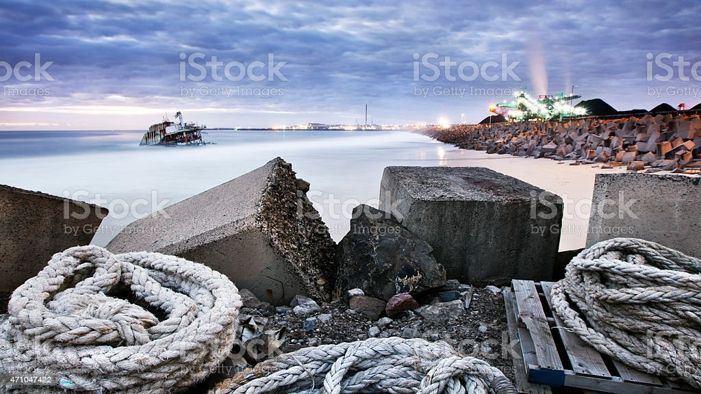 Industrial Beach stock photo