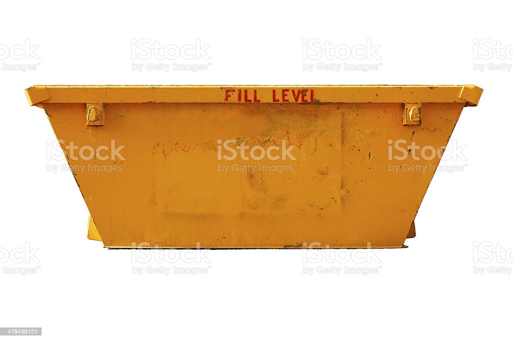 Industrial Bin - builders construction site (with clipping path) stock photo