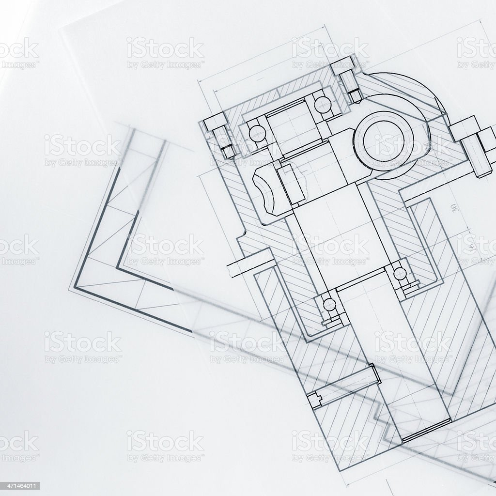 Industrial Blueprint Marco stock photo