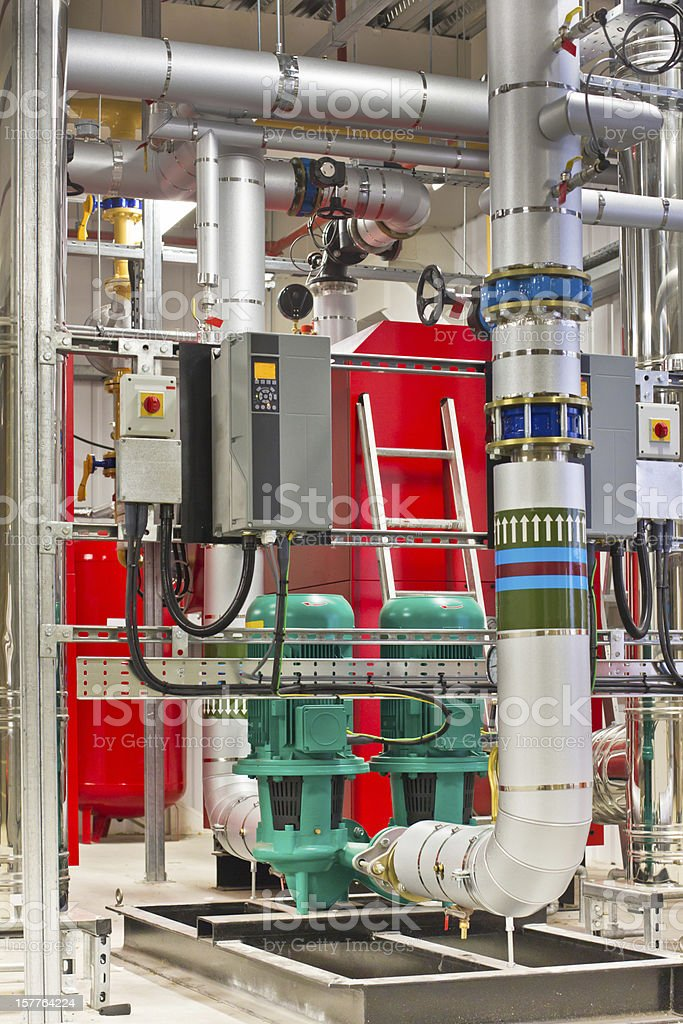 Industrial boiler stock photo