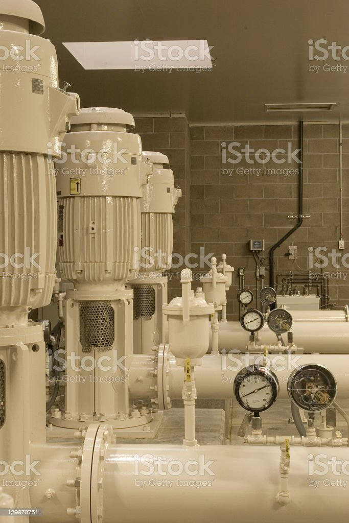 Industrial Booster Pumps royalty-free stock photo