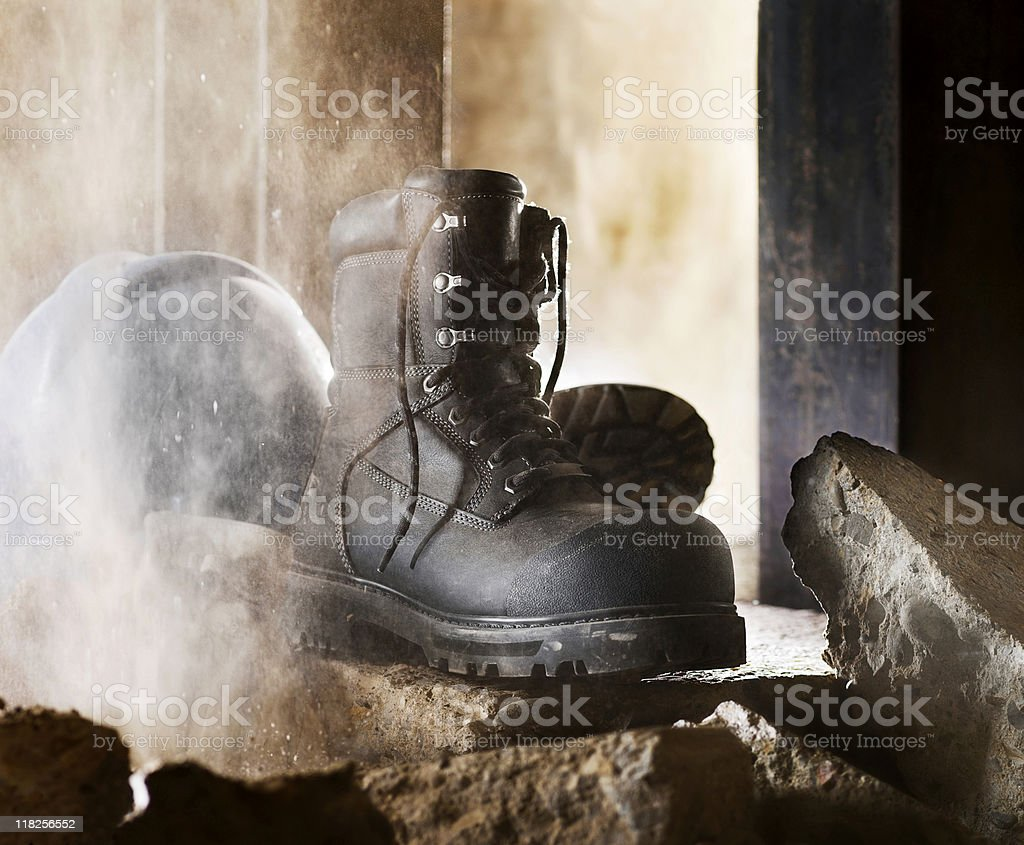 Industrial Boots stock photo