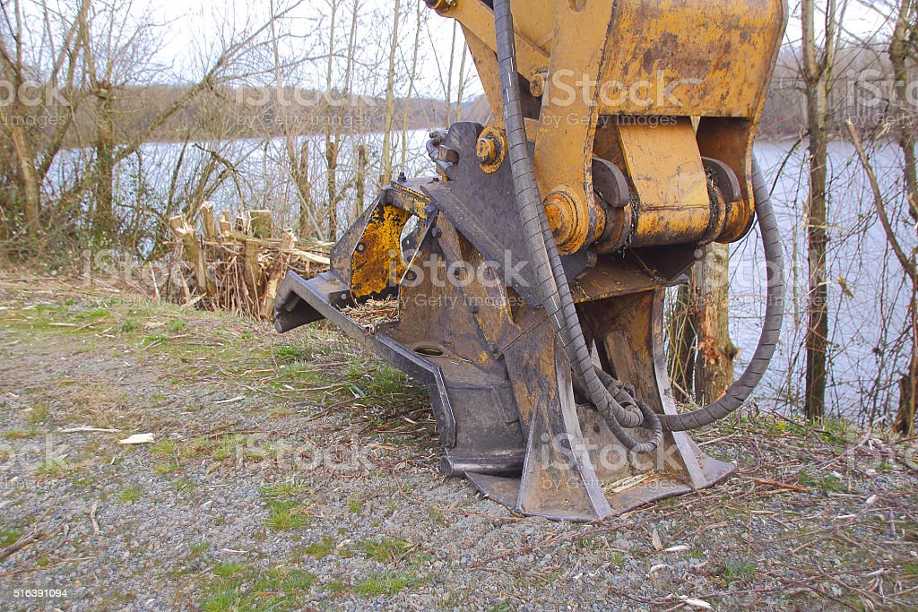 Industrial Brush Cutter stock photo
