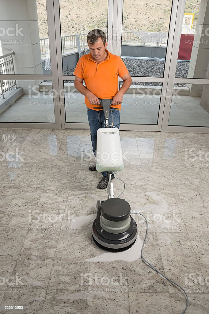Industrial Buffing Machine stock photo