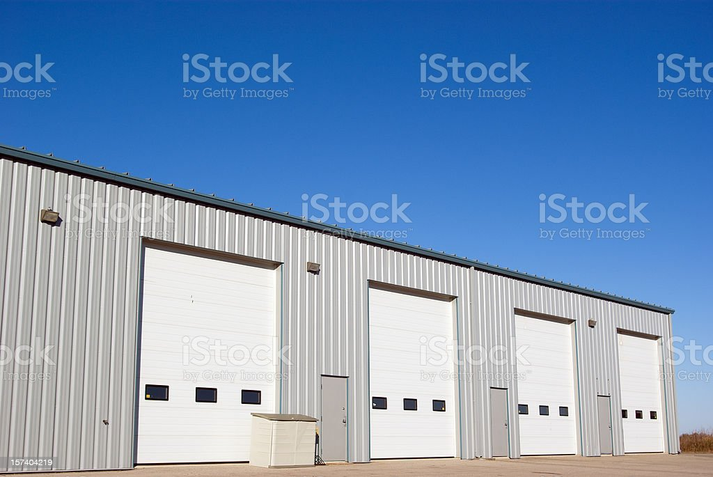Industrial Building and Doors stock photo