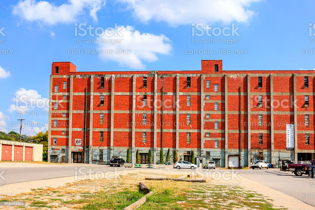 Industrial building in the Distillery District of Lexington KY stock photo