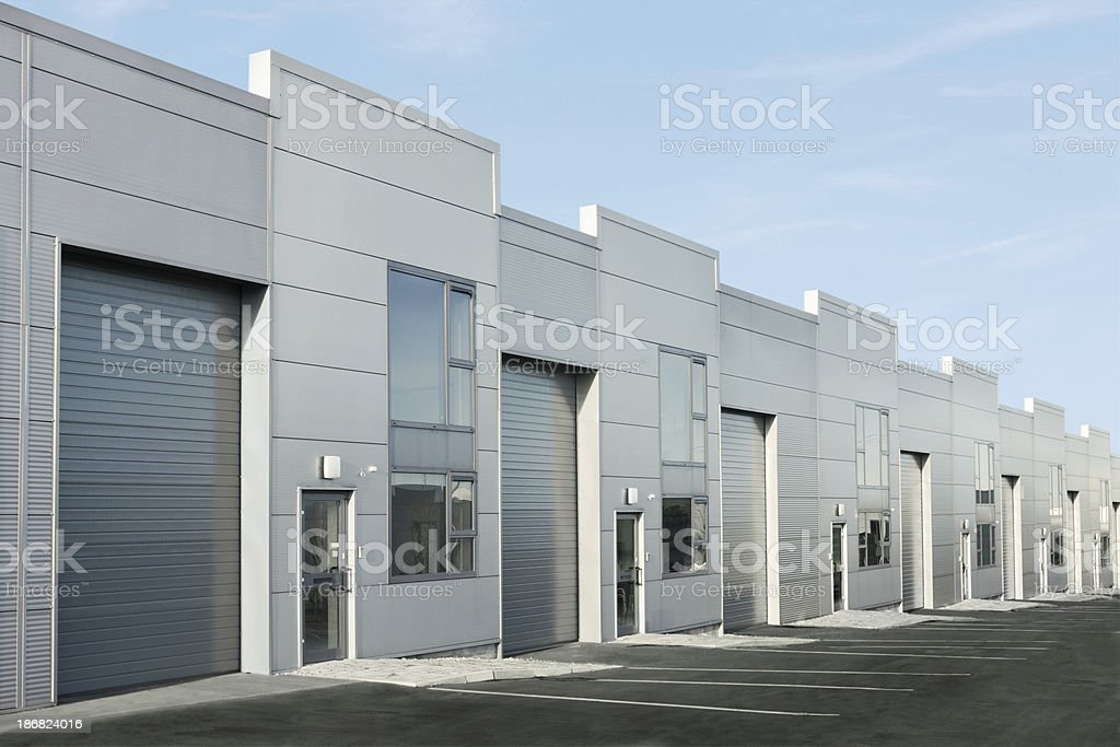 Industrial buildings stock photo