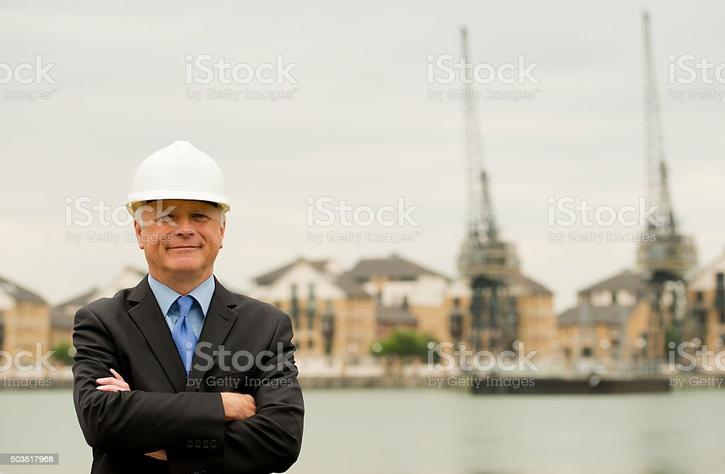 Industrial Businessman stock photo