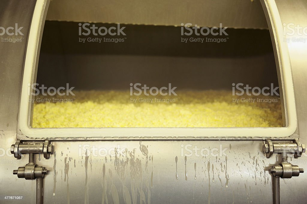 Industrial butter churn stock photo