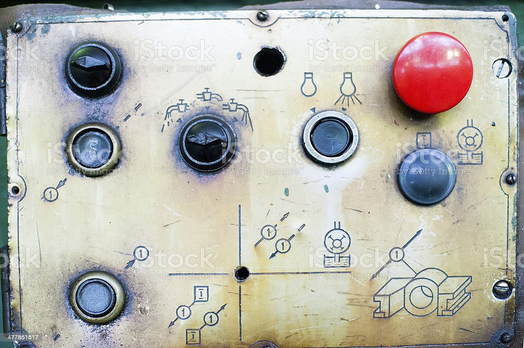 industrial button set stock photo