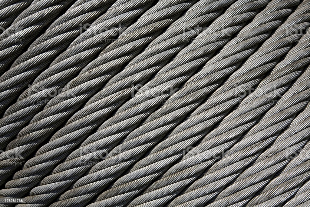 Industrial cable as background, texture royalty-free stock photo