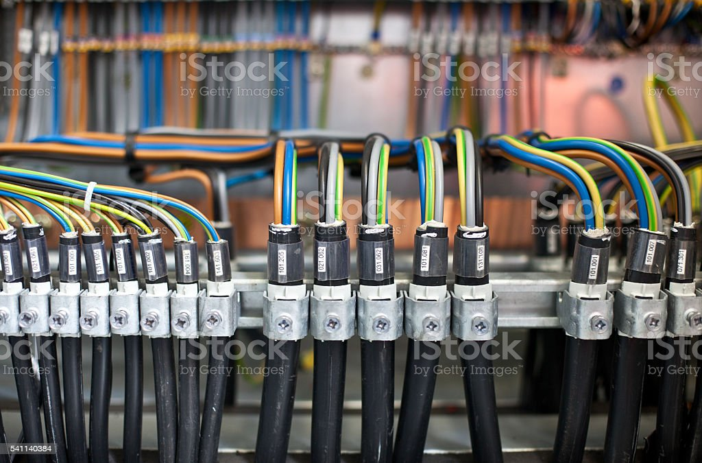 Industrial Cable Loom stock photo