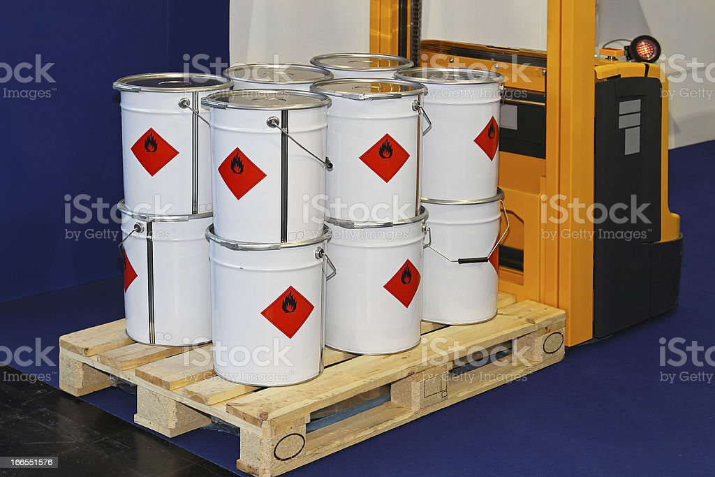 Industrial cans stock photo