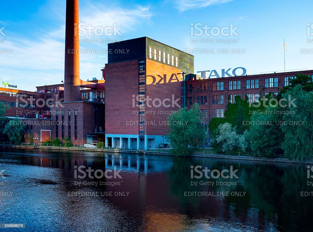 Industrial Centre of Tampere Finland stock photo