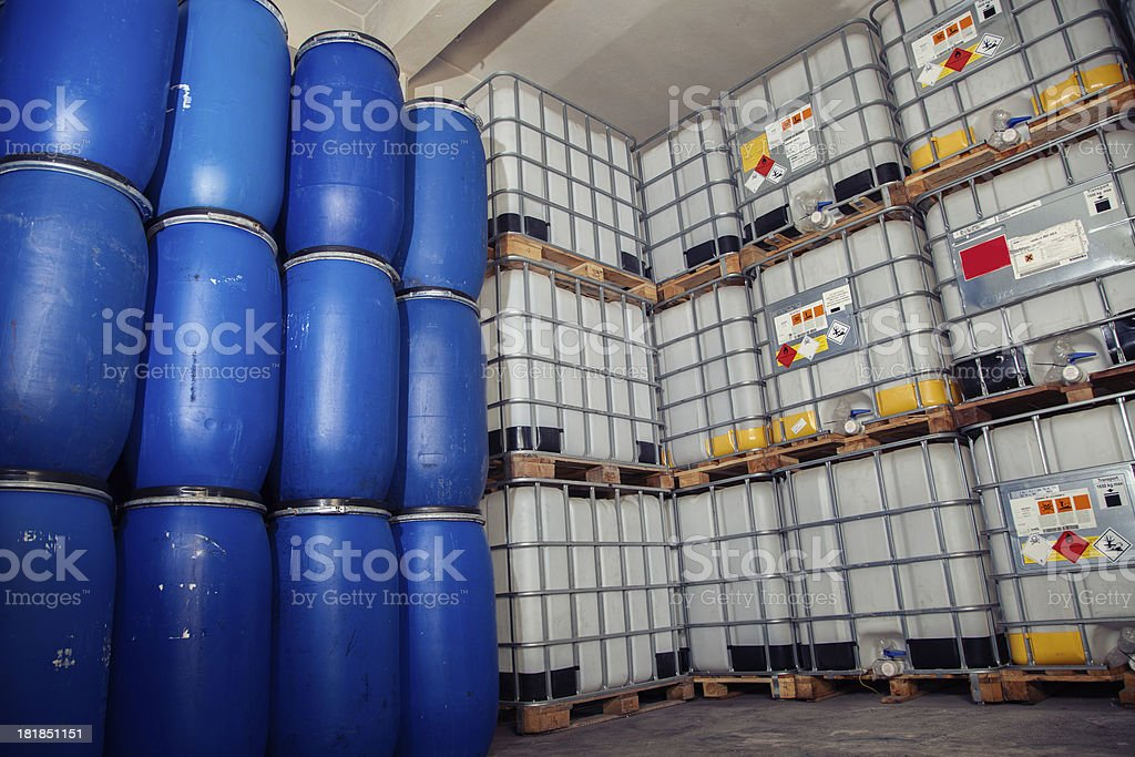 Industrial -Chemical plastic Canister stock photo