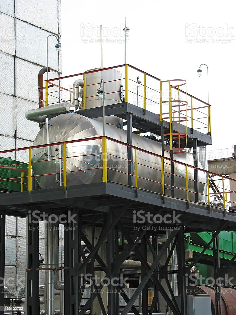 Industrial química Tanques foto de stock royalty-free
