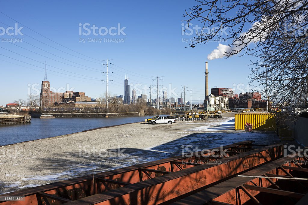 Industrial Chicago stock photo