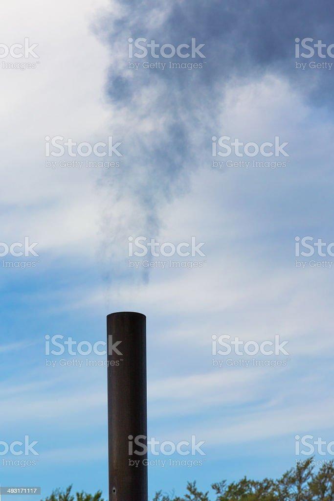 Industrial chimney - Global Warming - Smog stock photo
