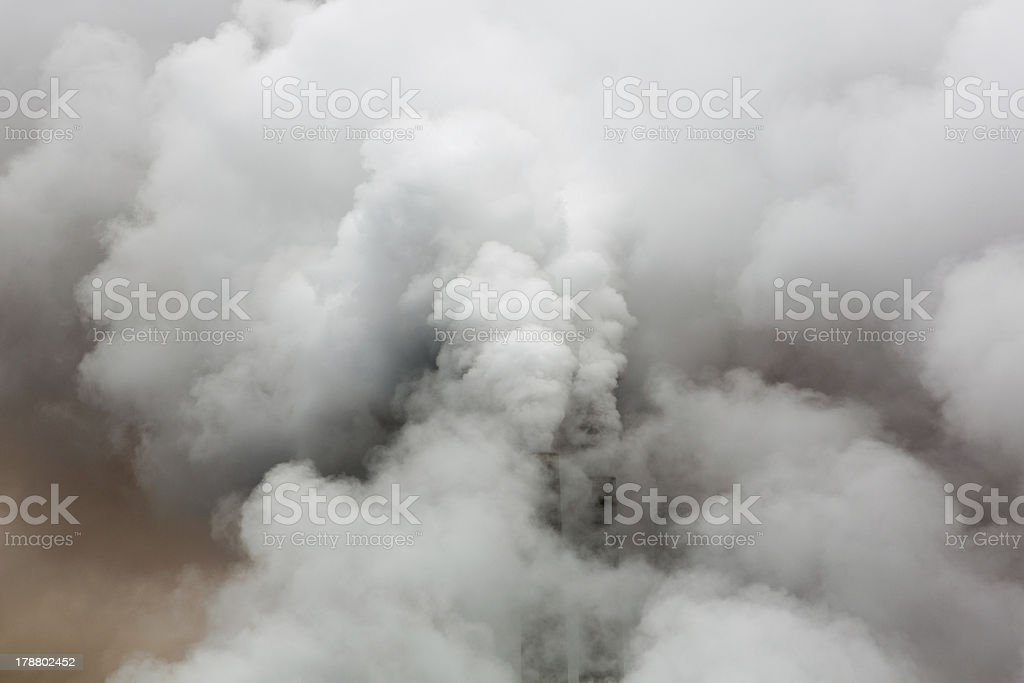 Industrial chimneys in the Arizona royalty-free stock photo
