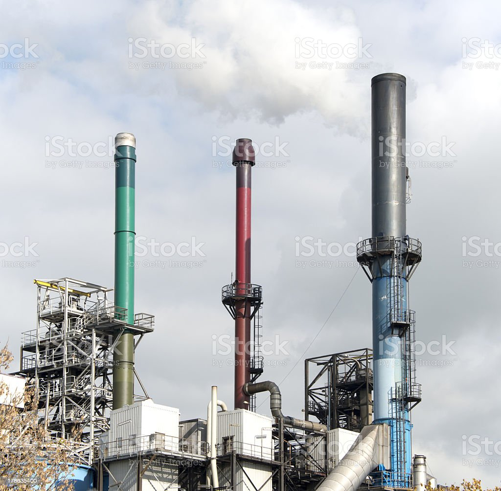 industrial chimneys royalty-free stock photo