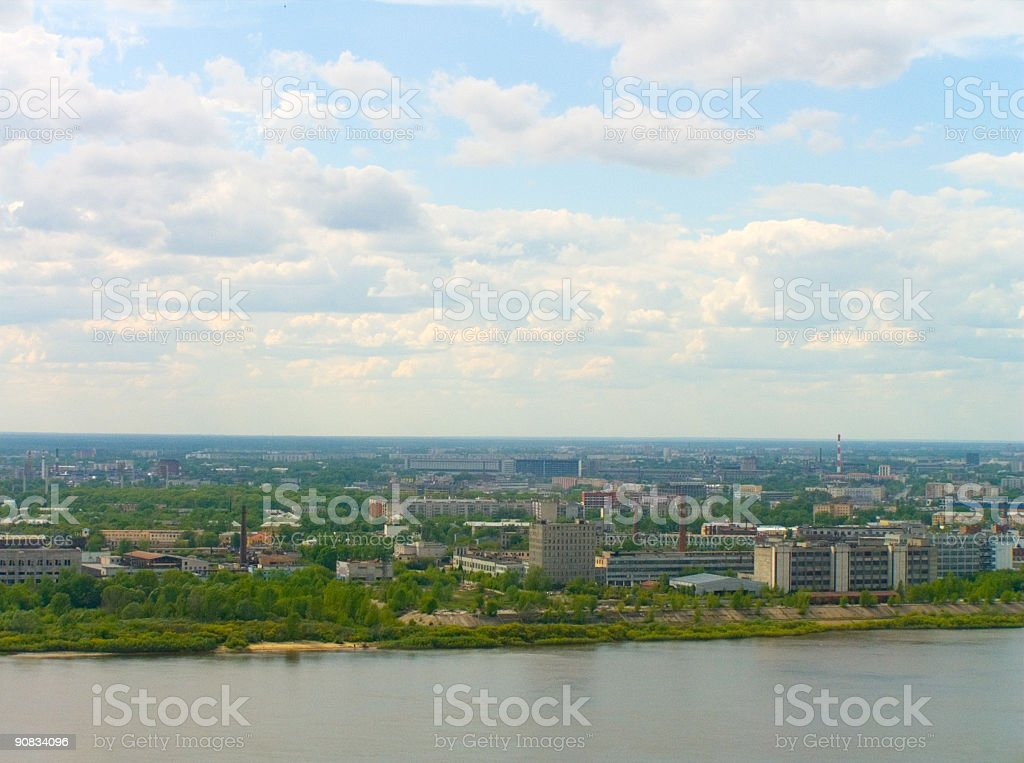 industrial city royalty-free stock photo