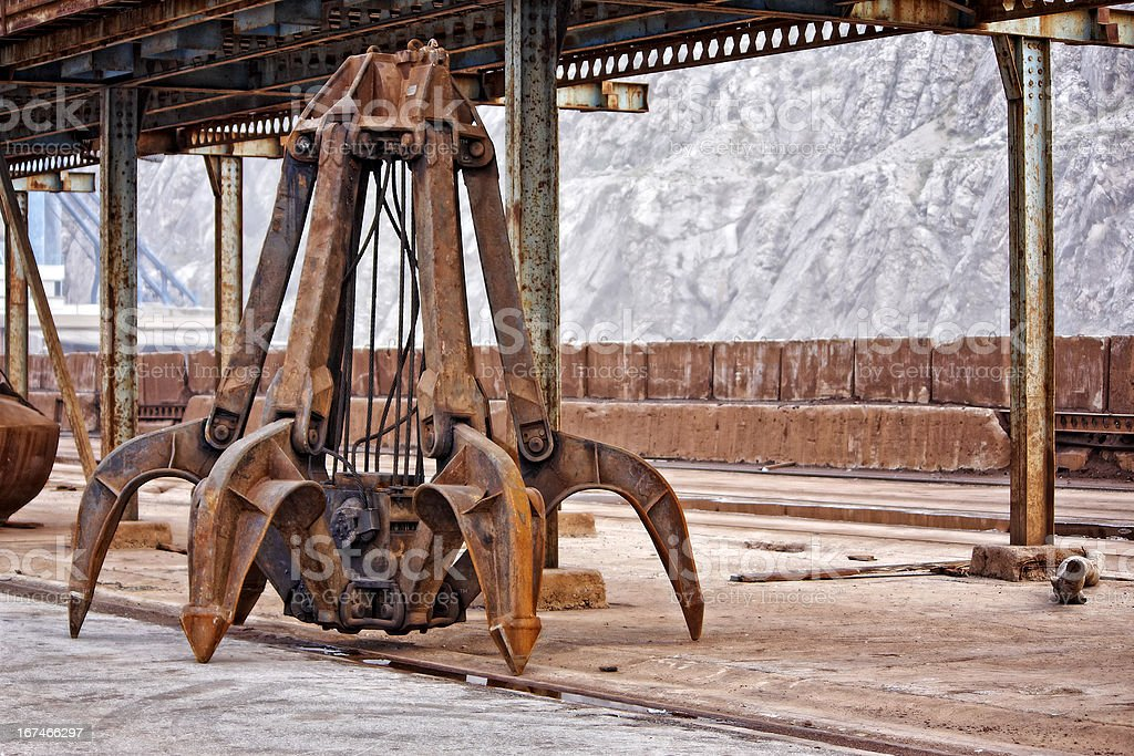 Industrial claw royalty-free stock photo