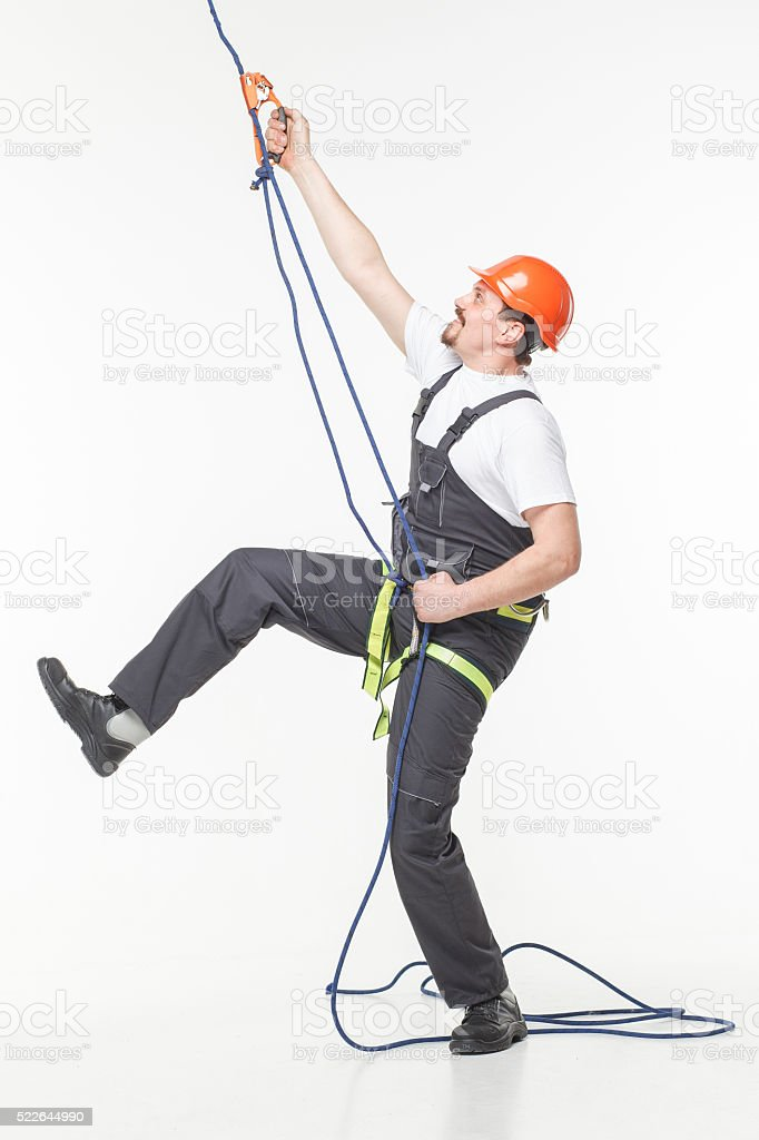 industrial climber man stock photo