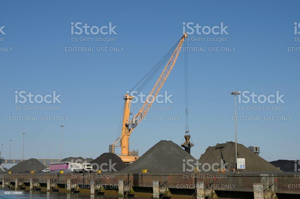 Industrial coal. stock photo