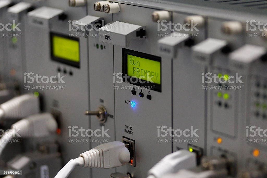 industrial computer system stock photo