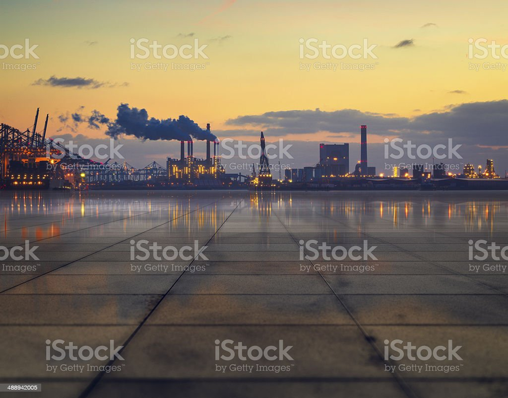 Industrial concretescape stock photo
