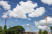 Industrial construction crane