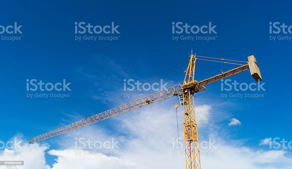 Industrial construction cranes . stock photo