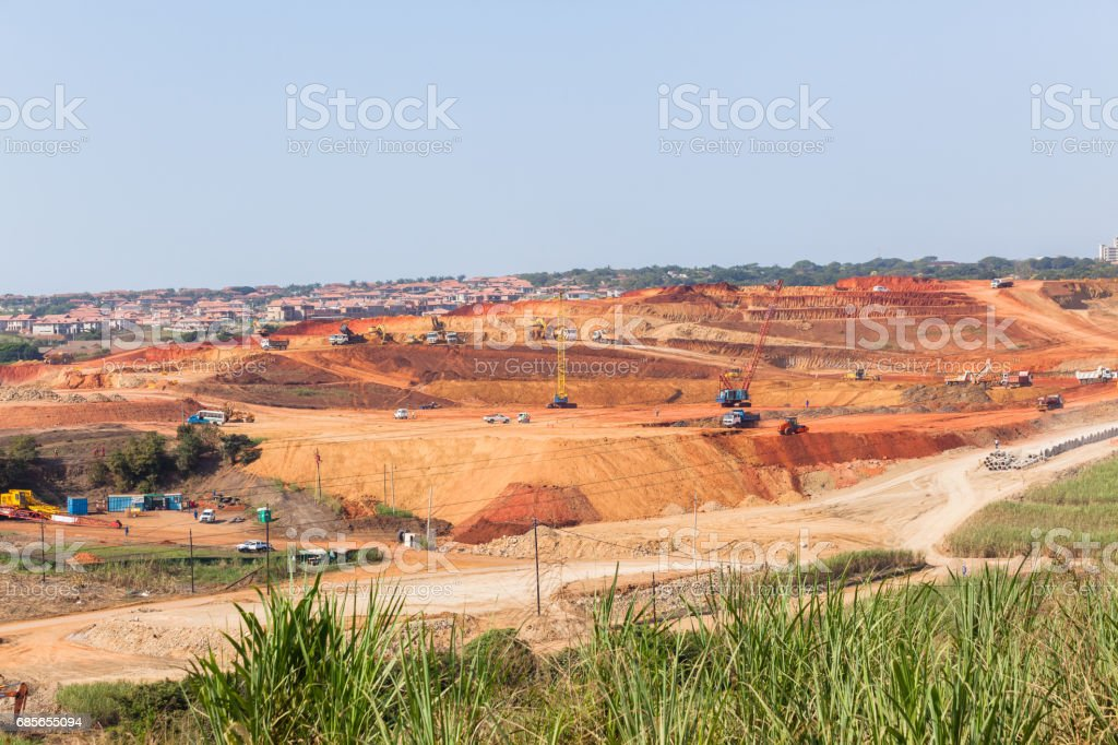 Industrial Construction Landscape stock photo