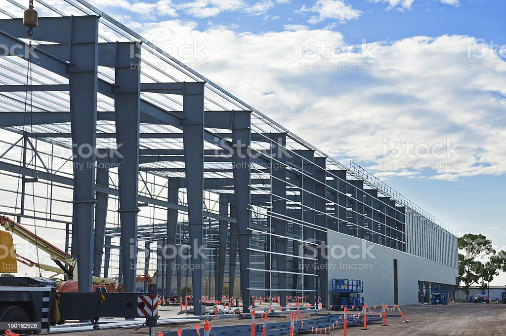 Industrial construction site stock photo