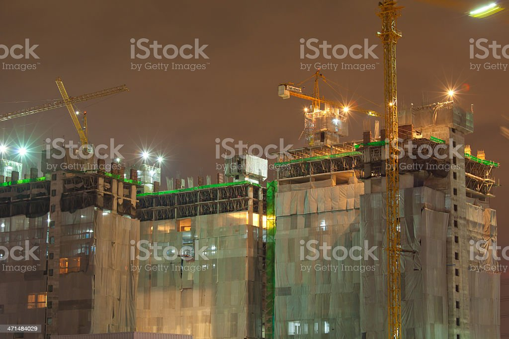 Industrial construction site royalty-free stock photo