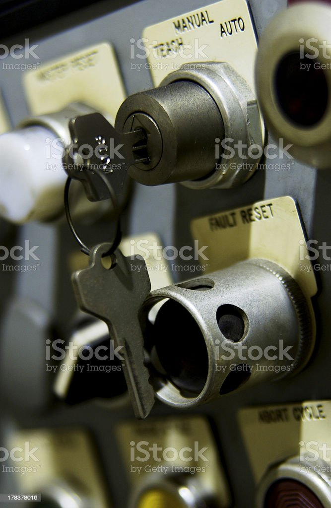 Industrial control panel stock photo