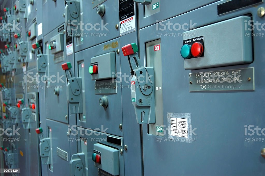 Industrial Control Panel royalty-free stock photo